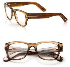 Tom Ford Eyewear 51MM Rectangular Acetate Optical Glasses