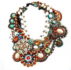Dolores Petunia Necklace - Statement piece