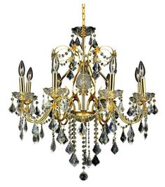 "St. Francis 8-Light Chandelier 23"", Gold Finish ~ Casa $585.03"