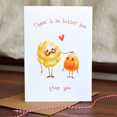 Funny Fathers Day Card, Pun Card, Thanks Dad, by MudsplashStudios on Etsy https://www.etsy.com/listing/221650474/funny-fathers-day-card-pun-card-thanks                                                                                                                                                                                 More