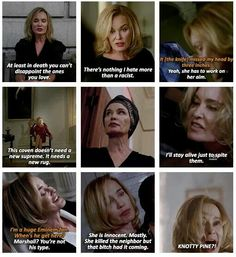 AHS COVEN I hated Fiona but loved her at the same time. She made me really conflicted American Horror Story Asylum, Horror Show, Evan Peters, Ahs, Staying Alive, Movies Showing, Horror Stories, Favorite Tv Shows, I Movie