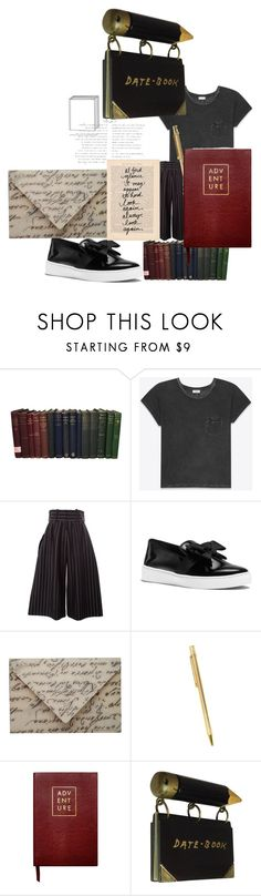 """poetry in motion"" by alisafranklin on Polyvore featuring Yves Saint Laurent, J.W. Anderson, Michael Kors, Cartier and Sloane Stationery"