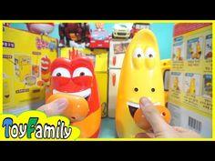 액체괴물 소시지를 주면 신나게 춤추는 라바 옐로, 레드 장난감 Dancing Larva Yellow, Red Toy Unbox 바이클론즈 슈퍼윙스 또봇 스쿨비 장난감 액체괴물 - YouTube