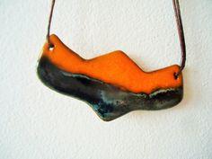 Ceramic necklace Ceramic jewelry Clay necklace Statement | Etsy
