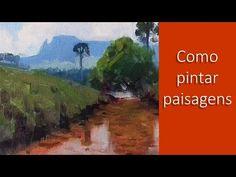 Como pintar paisagem passo a passo - YouTube