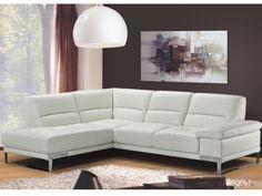 Canapé d'angle cuir supérieur SONORA - Ivoire Angle gauche prix promo Canapé Vente Unique 1 399.99 € TTC prix constaté* : 2 113 €