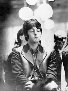 Paul in meditation TMJ -- Transcendental Meditation -- became all the rage after the Beatles went to India. Kids were paying $50.00 and keeping their mantra secret. Eventually many of us found out we had the same mantra... we stopped meditating. #TranscendentalMeditation