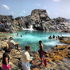 Natural Pool (Conchi) in Oranjestad. Go on a Jeep or Hike there hike), Aruba