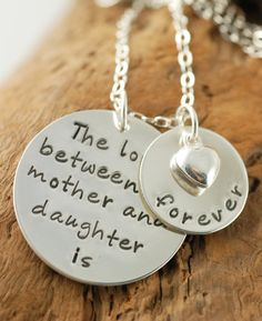 Sweet handstamped necklace - for mother's day