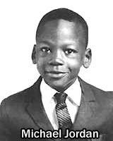 Michael Jordan de pequeño.