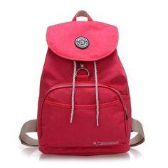JINQIAOER Brand Nylon Backpack Waterproof Women Knapsack Drawstring String Backpack Girl Student School Bag For Laptop Mochilas