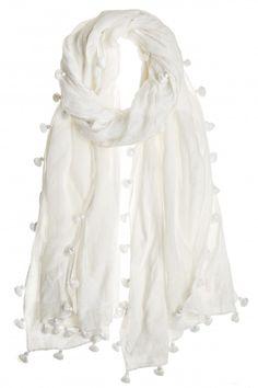 fc3a20ec5c Chan Luu Pom Solid Cotton Scarf