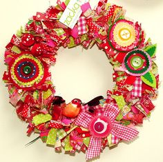 fun fabric wreath
