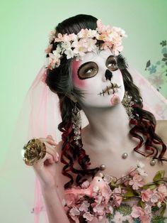 sugar mexican skull pinup