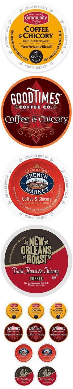 Coffee & Chicory Sampler Keurig K-Cups Variety Box, 10 Count