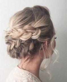 hair hair updos 42 Braided Prom Hair Updos To Braided Prom Hair, Prom Hair Updo, Bridal Hair Updo, Wedding Hair And Makeup, Braided Updo, Braid Hair, Prom Braid, Prom Makeup, Wedding Beauty