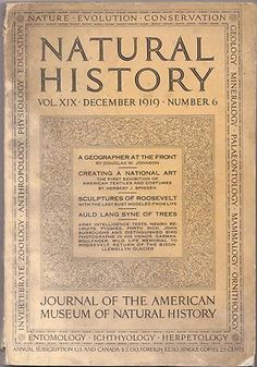 Vintage Issue of Natural History Magazine for December 1919 , Rare Photos
