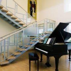 Grand piano, grand staircase