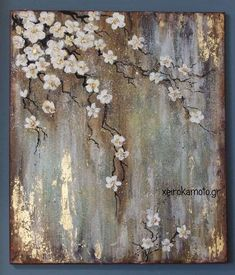Abstract Tree Painting, Acrylic Painting Canvas, Diy Painting, Acrylic Art, Abstract Nature, Stone Painting, Gold Leaf Art, Diy Canvas Art, Painting Techniques