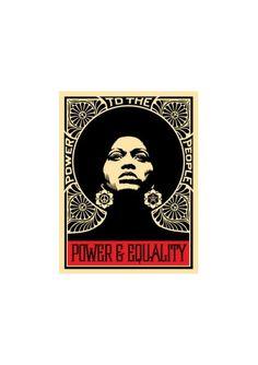 #shepardfairey #obey #sergeantpaper #artstore Power and Equality 2001 #Serigraphie sur papier Edition limitee a 300ex 46x61cm - numerotee et signee