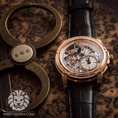The new version of Louis Moinet Tempograph - the thin retrograde seconds hand is counting 20 seconds at a 1 o'clock mark.