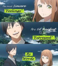 Los más sinceros sentimientos Son los más difíciles de expresar En palabras