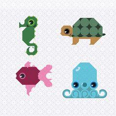 Animals icons by Magdalena Płoszkiewicz, via Behance