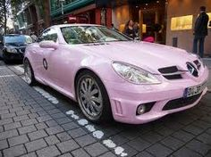 Pink Mercedes SLK ☆ Girly Cars for Female Drivers! Love Pink Cars ♥ It's the dream car for every girl ALL THINGS PINK #mercedes #pink