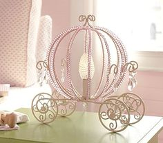 Love this lamp for a little princess bedroom.