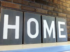 Large Rustic Wooden Letters  HOME by ASimplePeacePlace on Etsy, $10.00