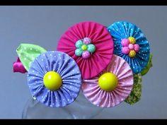 Rosas no Palito de tecido e feltro - HOW TO MAKE ROSES- fabric flowers - YouTube