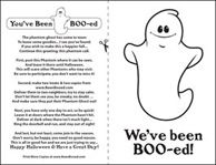 You've Been Booed - Print the Phantom Ghost Poem - Halloween