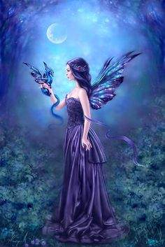 """Fantasy Art Carte de Vœux /""""Autumn fairy byanne STOKES-ANNIVERSAIRES-Arbre Friendly"""