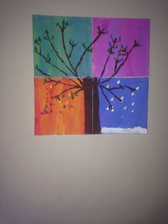 4 seasons acrylic on canvas
