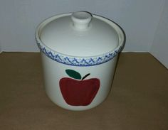 Apple Cookie Jar made in USA by Treasure Craft