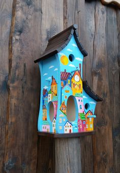 How To Attract Birds, Bed And Breakfast, Bird Houses, Bird Feeders, Decoupage, Outdoor Decor, Painting, Birdhouse Ideas, Arbors
