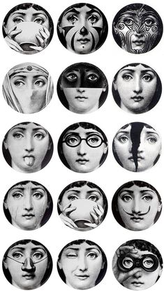 'What inspired me to create   more than 500 variations   on the face of a woman?   I don't know.  I began to make them  and I never stopped.'   Fornasetti used the same   image (the portrait of Lina   Cavalieri, he had found in a   magazine from the 1800's)  on a variety of other objects,   until it became virtually his   trademark.