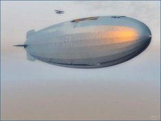 The 255m Unity class airship and escort on its maiden flight. Just stunning work: Maiden Flight by donaguirre