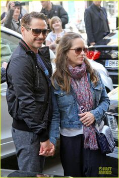 RDJ & Susan in Germany for Iron Man 3 Press Tour