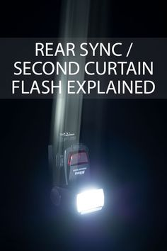 An explanation of how rear sync (also known as second curtain) flash differs from the standard flash mode, and how it can be used for creative effect. Flash Photography Tips, Creative Portrait Photography, Photography Basics, Photography Lessons, Photography Camera, Light Photography, Photography Tutorials, Digital Photography, Inspiring Photography