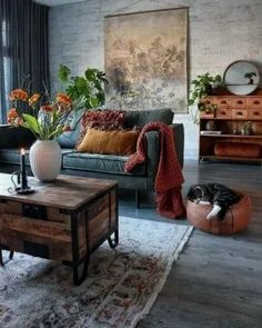 48 Stunning Spring Living Room Decor Ideas To Refresh Your Mind. 48 Stunning Spring Living Room Decor Ideas To Refresh Your Mind. The living room is the spot in our homes where we invested our energy for sitting in front of the […] Eclectic Living Room, Living Room Interior, Home Living Room, Apartment Living, Living Room Designs, Eclectic Decor, Industrial Living Rooms, Warm Colours Living Room, Grey And Orange Living Room