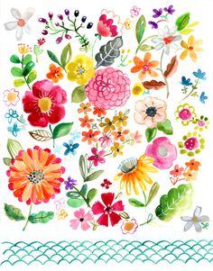 Jennifer Orkin Lewis #floral #illustration