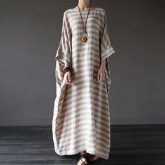 Stripe loose big size maxi size dresses summer plus sizes women clothes