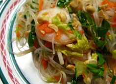 "rice noodle salad.""A Spoonful of Ginger"""