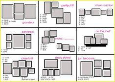 Combinaciones con tamaños de cuadros