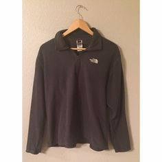 North Face light pullover Very light gray North Face pullover. Great for running! Size medium North Face Tops Sweatshirts & Hoodies