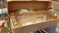 Vintage Eye Glass Steam Punk Eye Glass Shield with box-SAM