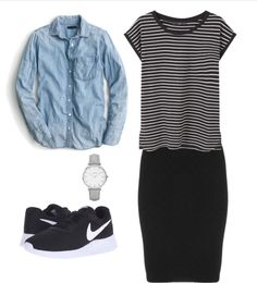 modest casual sporty outfit