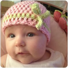 Stitch 'n' Ting: Super easy double crochet baby hat