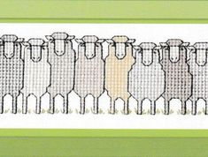 New Zealand Sheep Cross Stitch pattern